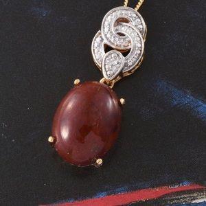 Jewelry - Aqua Nueva Moss Pendant With Stainless Steel Chain